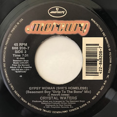 CRYSTAL WATERS:GYPSY WOMAN(SHE'S HOMELESS)(LABEL SIDE-B)