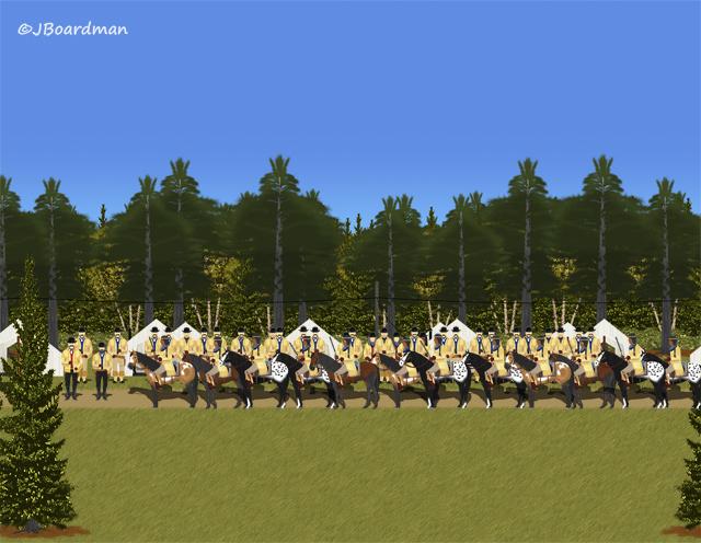 Renegade Indians arrived at the Campsite ©Jack Boardman