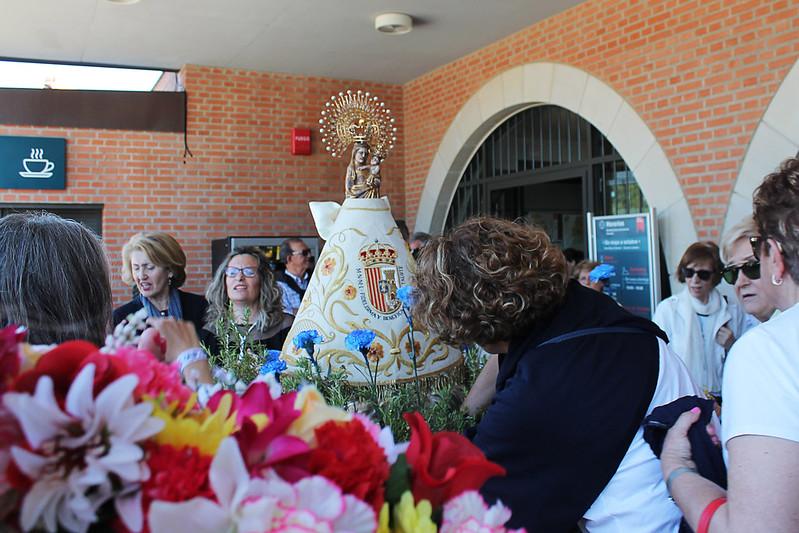 Con la Virgen de Sancho Abarca (Tauste) en Torreciudad 2019