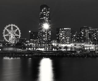 Night lights at Melbourne.