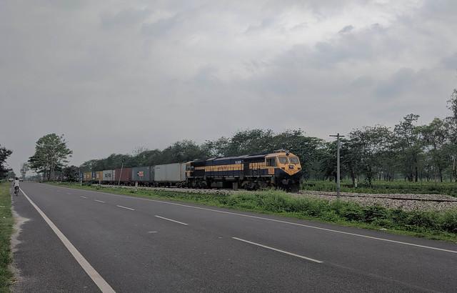 Goods Train near Bagrakote