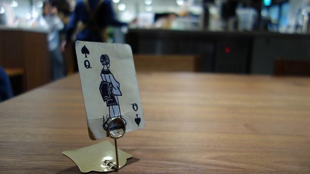 結帳序號的桌牌,用很有日本風味的藝伎撲克牌代替@猿田彥珈琲/台北誠品南西店