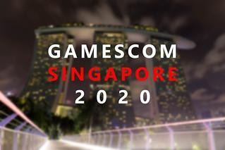 Gamescom asia in in Singapur (Singapore) Froschperspektive. Das Hotel Marina Bay Sands bei Nacht