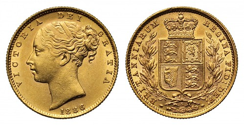 1886-S Victoria Gold Sovereign