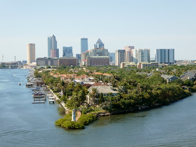 Tampa Skyline and Harbour Island Lighthouse