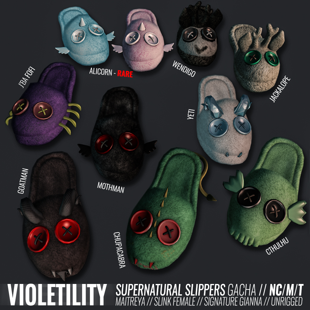 Violetility Supernatural Slippers @ The Arcade