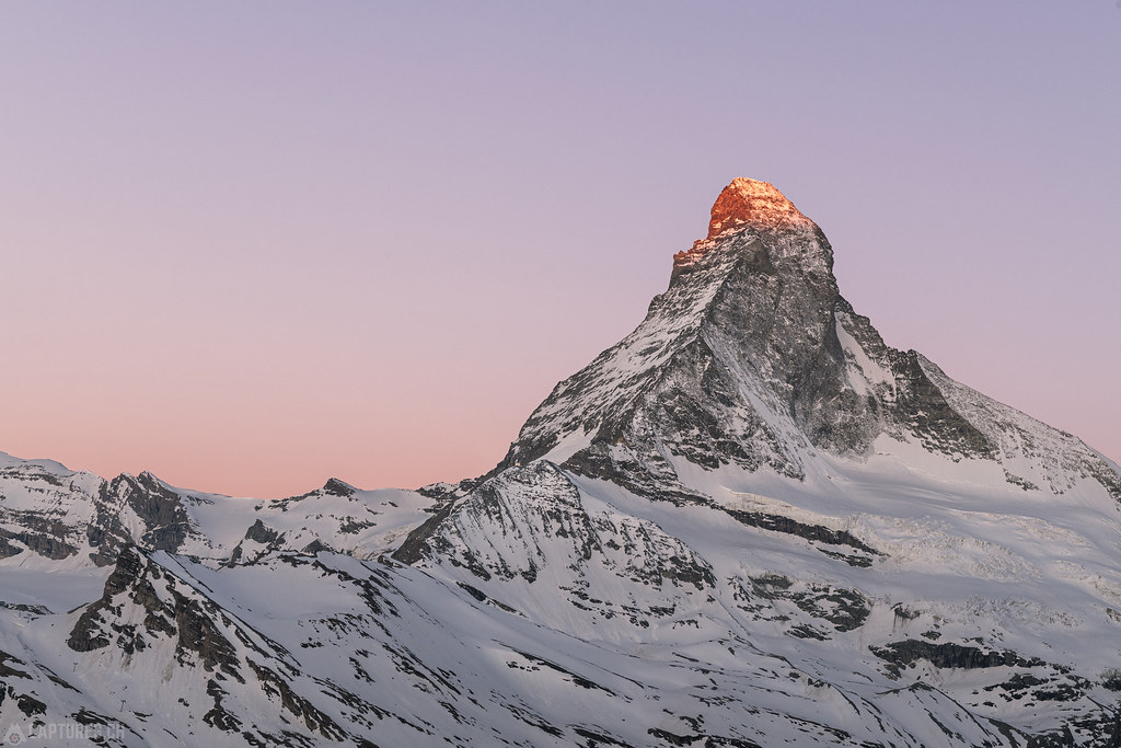 Glowing peak - Zermatt