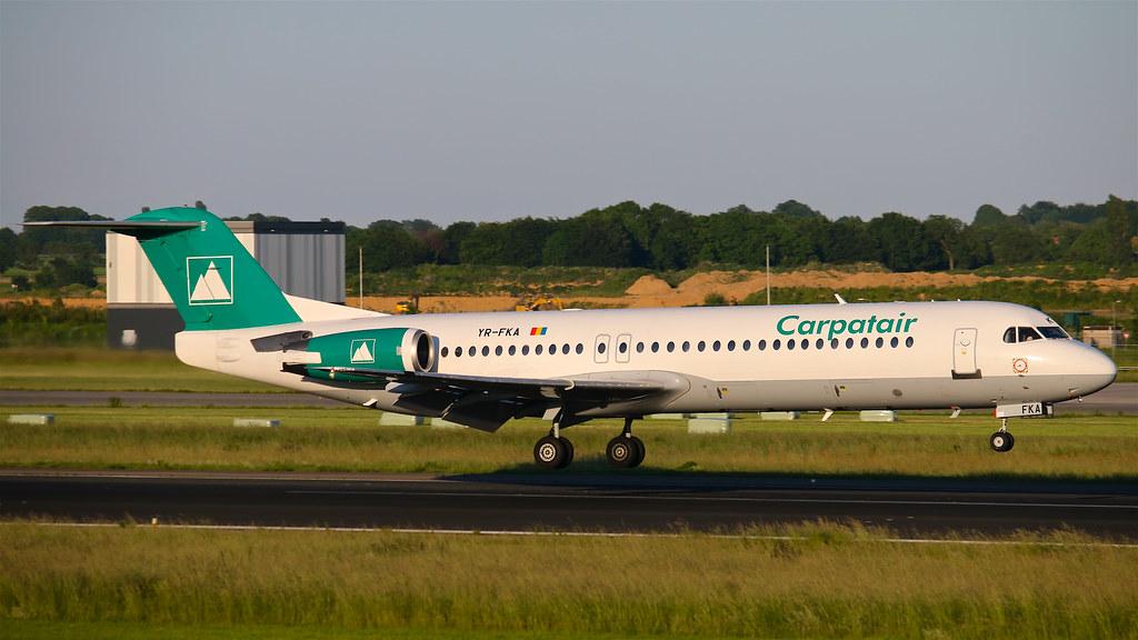 YR-FKA Carpatair Fokker F100 - Maastricht Aachen Airport (EHBK/MST)