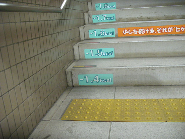How many calories less, Tokyo metro
