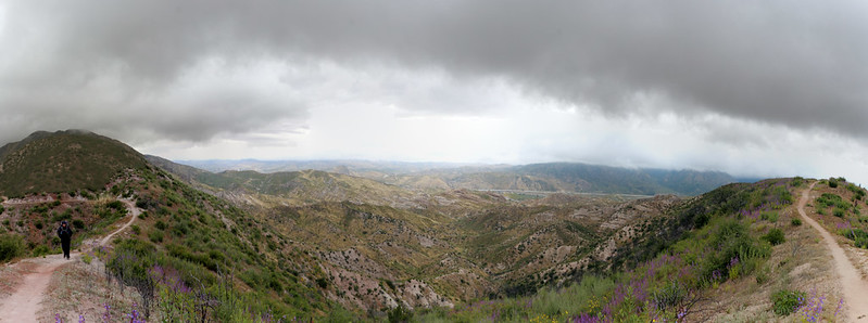 180-Degree Panorama from the PCT looking east into Cajon Canyon