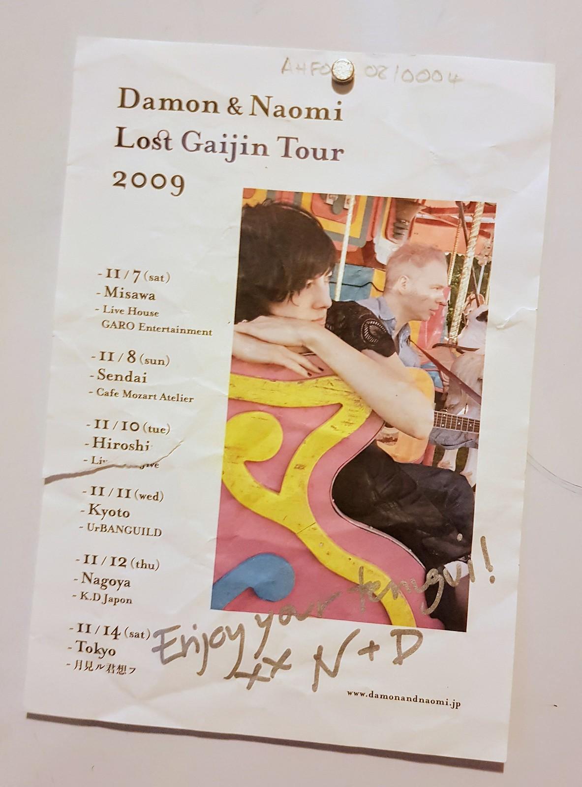 Damon & Naomi Lost Gaijin Tour flyer (2009)