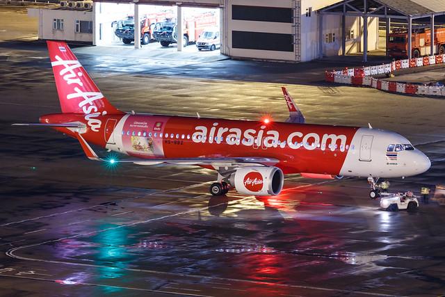 """Thai AirAsia A320-251N HS-BBZ """"GSB VISA CARD"""" 001"""