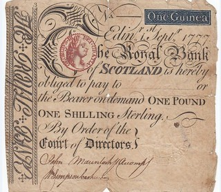 Royal Bank of Scotland One Guinea note