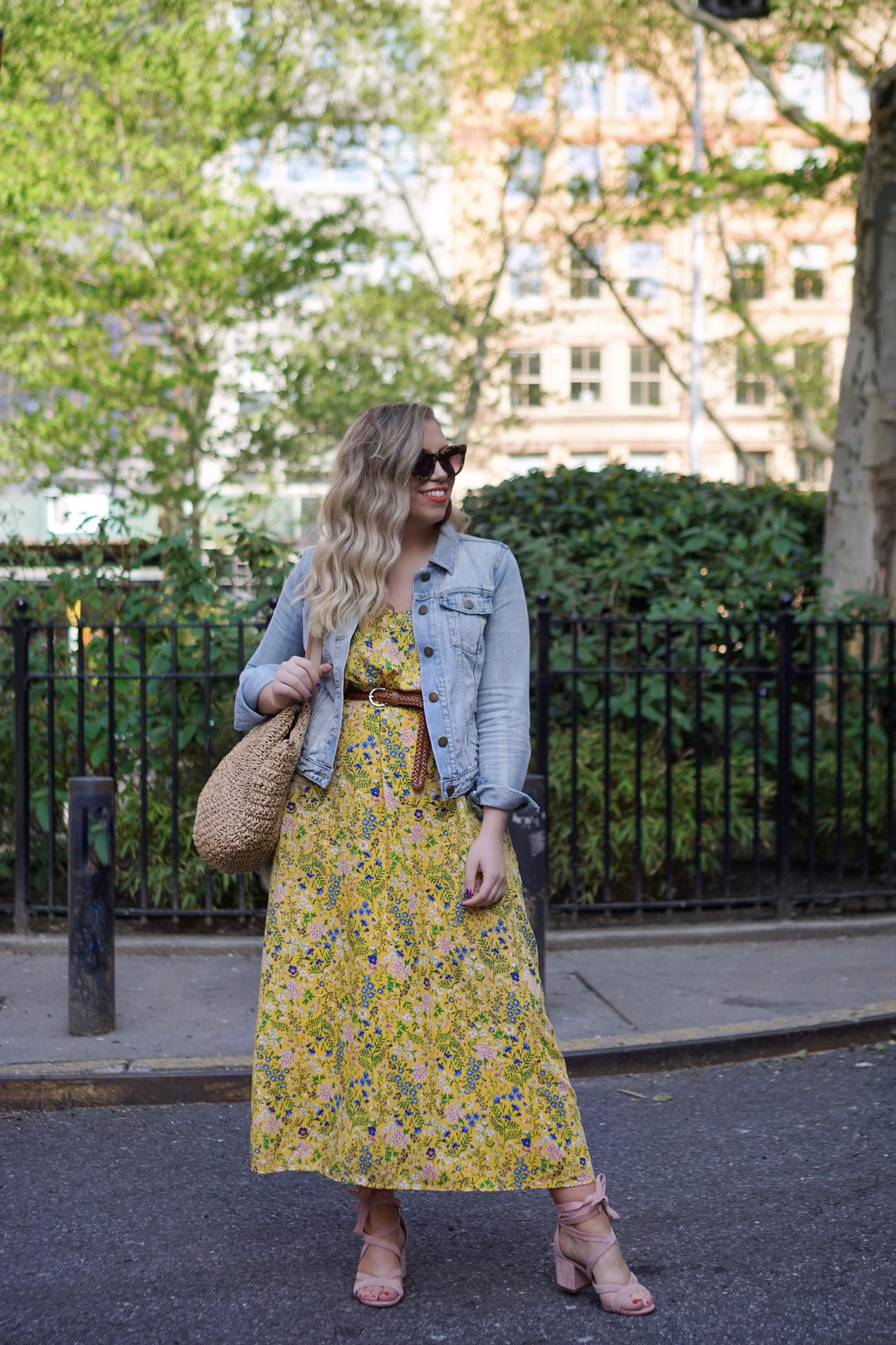Yellow Floral Old Navy Dress