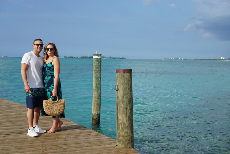 Shein Palm Print Midi Dress Bahamar Resort Bahamas