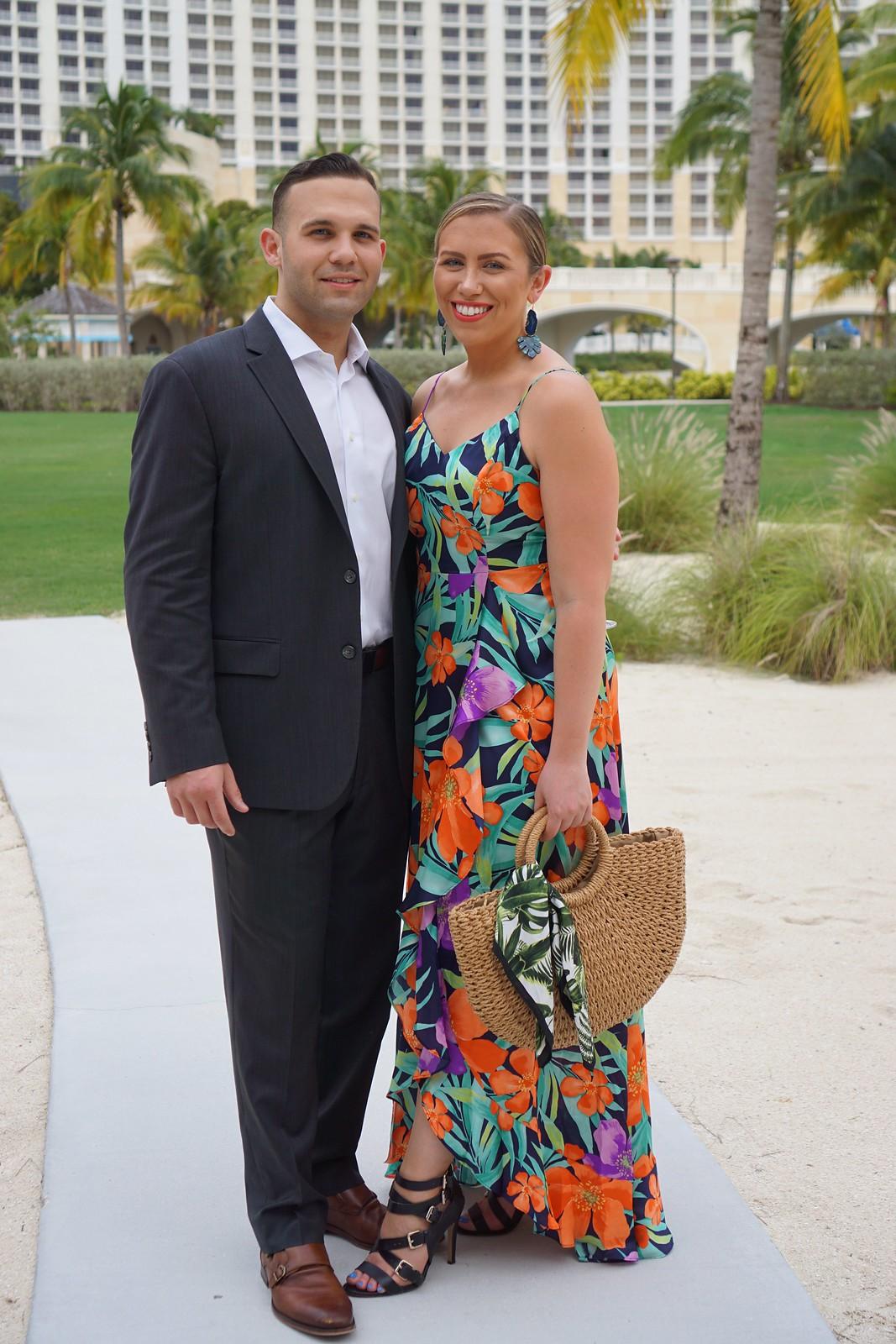 Lulu's Tropical Print Dress Bahamar Resort Outfit