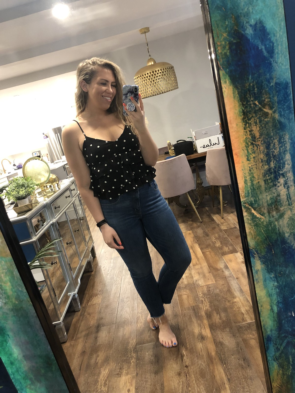 Old Navy High Rise Power Straight Ankle Jeans