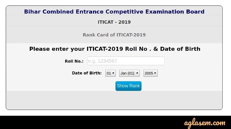 ITICAT 2019 Result (Announced) – Download Rank Card Here