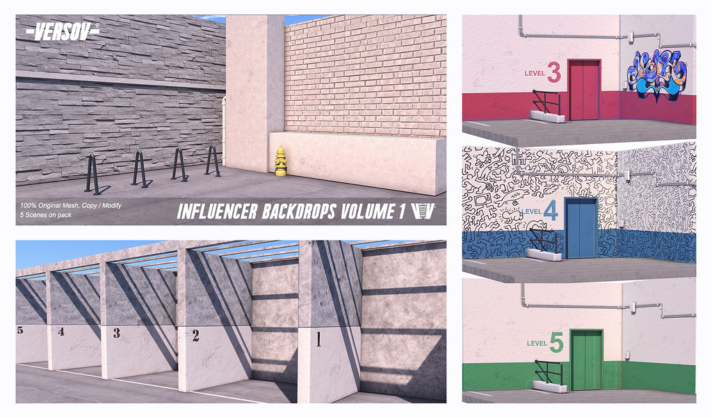 [ Versov //​ ]  INFLUENCER_BACKDROPS_Volume 1 available at Anthem