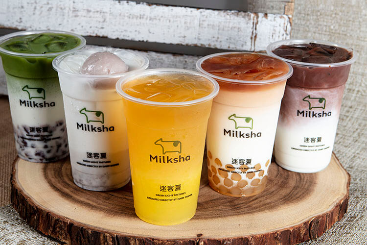 Milksha bubble tea in Singapore