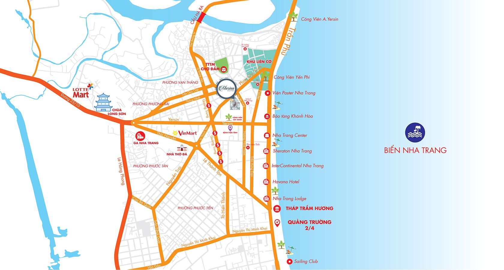 Vị trí Sunshine Marina Nha Trang