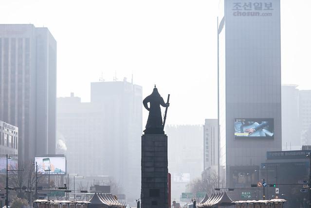 Admiral Yi Overlooking Seoul