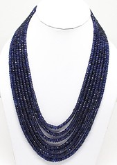 AAA Quality Blue Sapphire Necklace Rondelle faceted Necklace