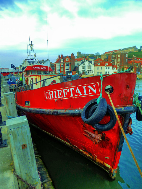 River Esk, Whitby, North Yorkshire, UK