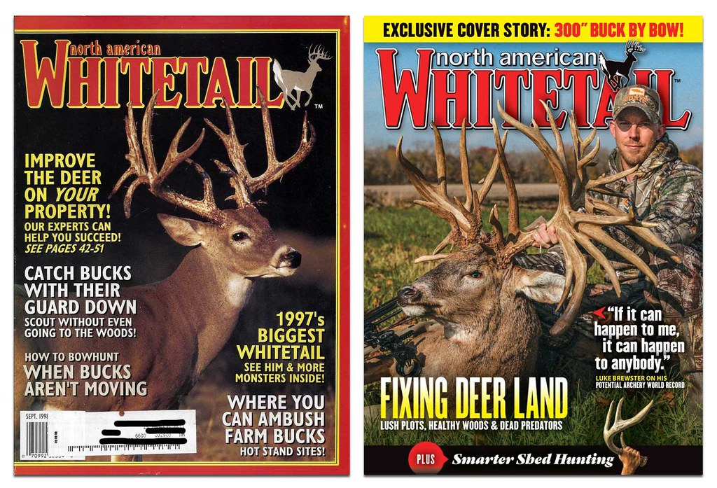 1998 and 2019 covers of NorthAmerican Whitetail magazine