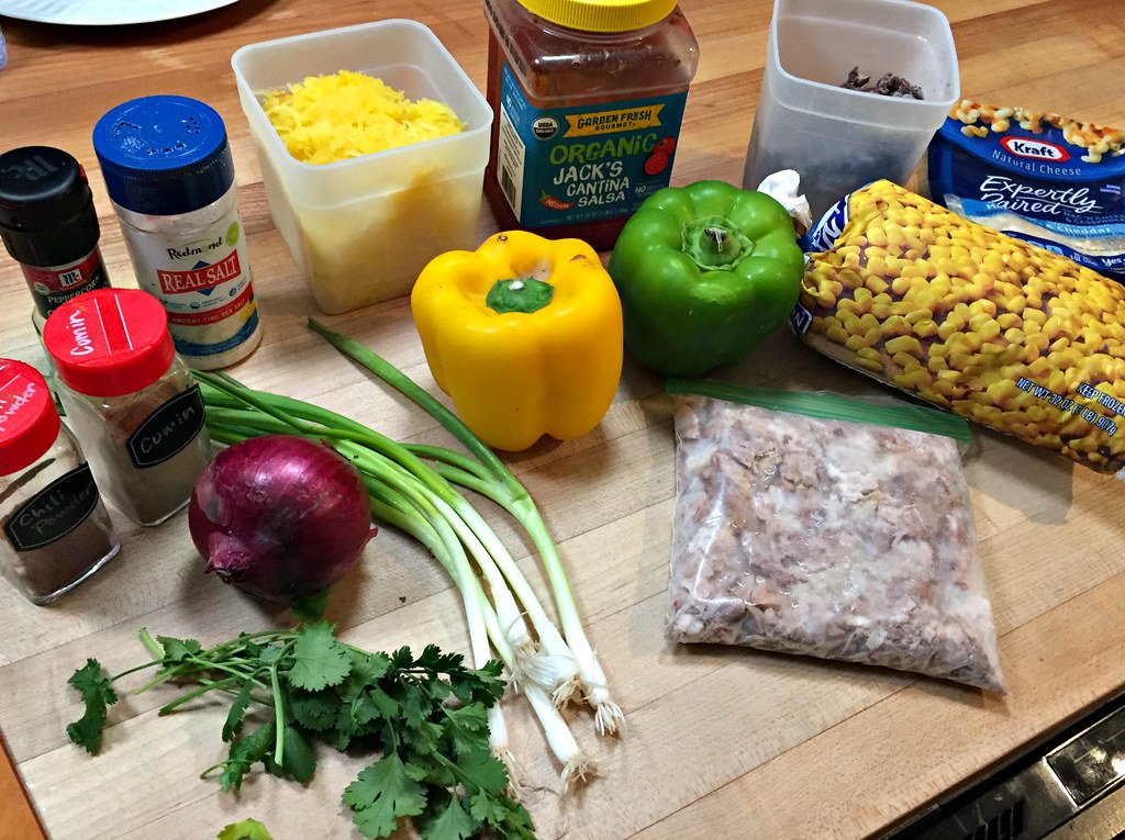 ingredients for southwest spaghetti squash