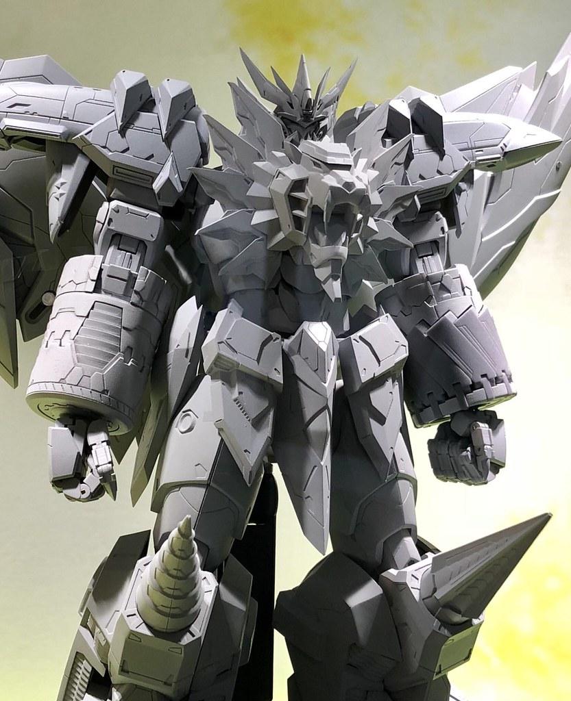 HOBBY JAPAN×AMAKUNI×千值練合作商品《勇者王GAOGAIGAR FINAL》始源我王凱牙(ジェネシックガオガイガー)合金玩具原型公開!