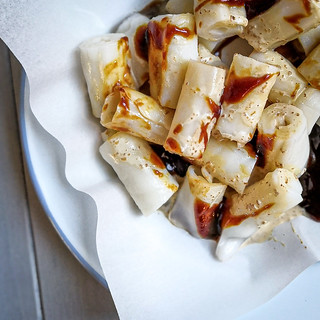 豬腸粉 steamed rice noodle rolls, Hong Kong style
