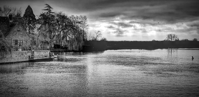 Winter Riverscape 403dbw-1