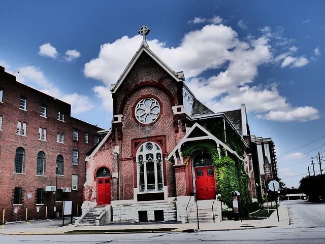 Downtown Indianapolis - Artistic Church Facade