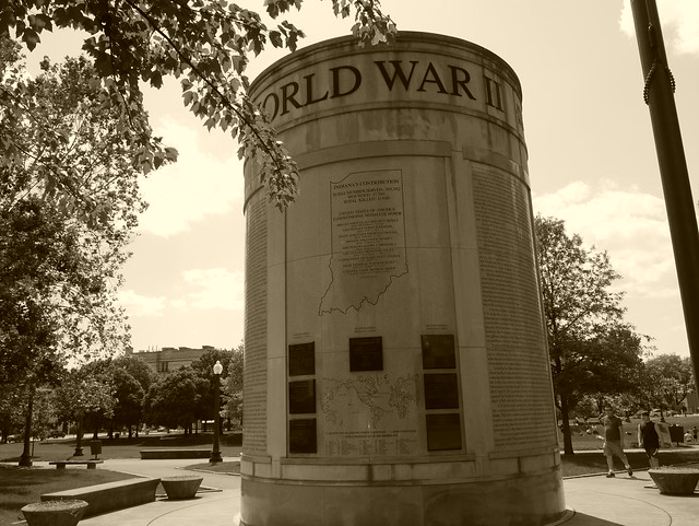 Downtown Indianapolis -  World War II Memorial