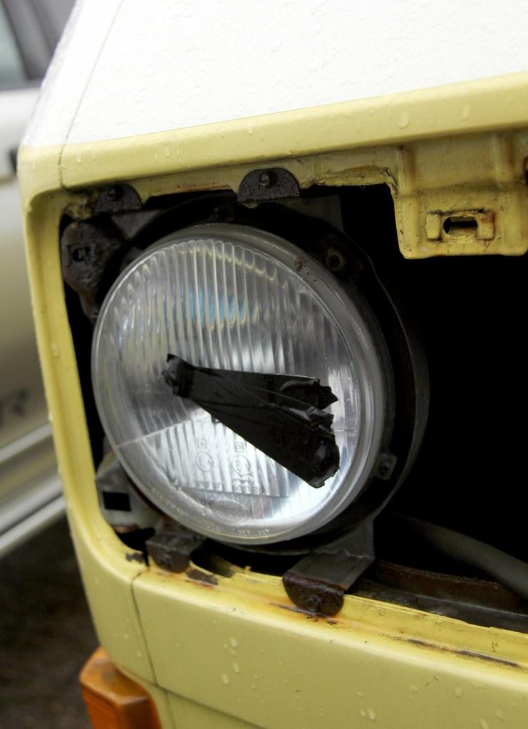 VW Splitscreen Camper Beetle Sloping Headlamp Front Light Reflector Bug Bus 67