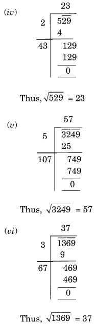 NCERT Solutions for Class 8 Maths Squares and Square Roots Ex 6.4 Q1.1