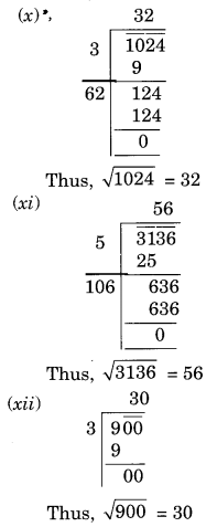 NCERT Solutions for Class 8 Maths Squares and Square Roots Ex 6.4 Q1.3