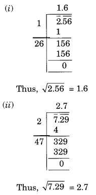 NCERT Solutions for Class 8 Maths Squares and Square Roots Ex 6.4 Q3