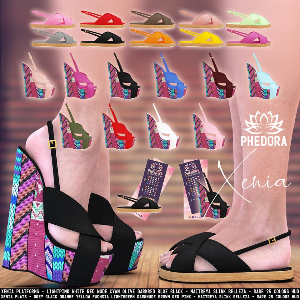 "Phedora. for The Arcade Gacha Events – ""Xenia flats & plats"" Gacha ♥"