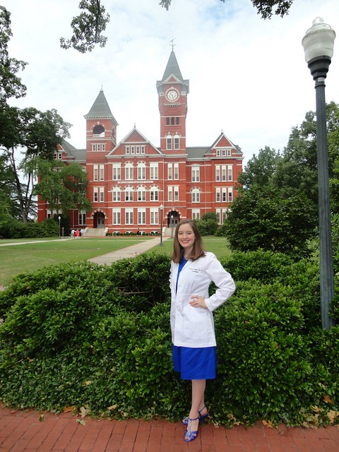 Laura Pratesi poses for a photo in front of Samford Hall