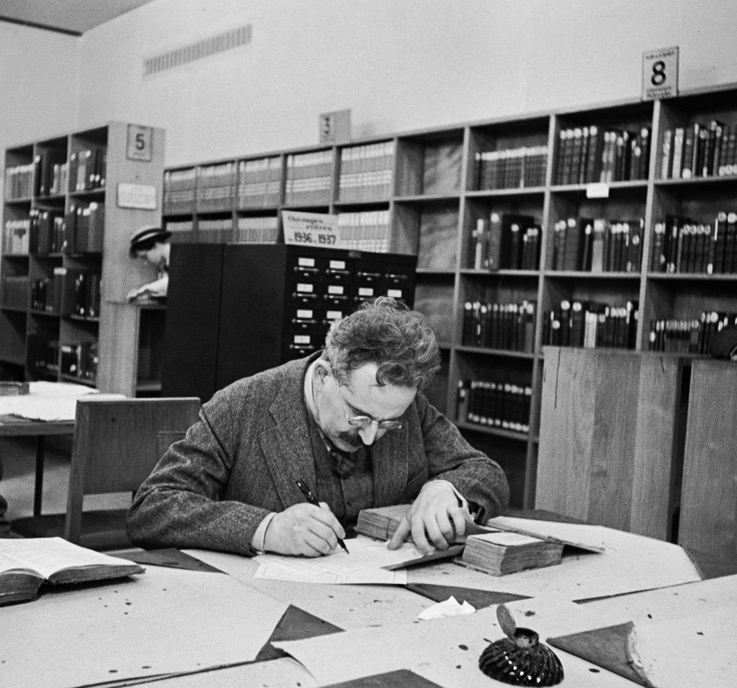 1937. Вальтер Беньямин во Французской национальной библиотеке