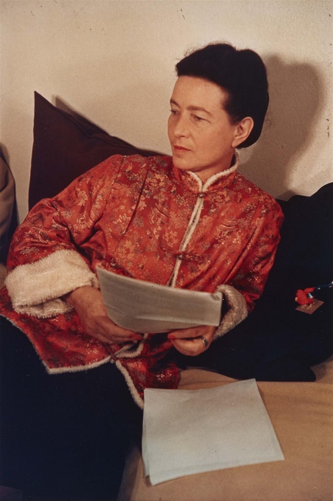 1939. Симона де Бовуар (французская писательница, представительница экзистенциальной философии, идеолог феминистского движения)