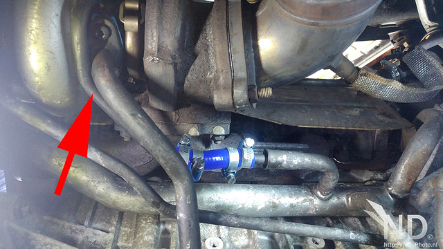 Volvo S80 2.4T Coolant Line Modification