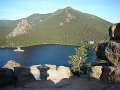Вид с горы с тенью
