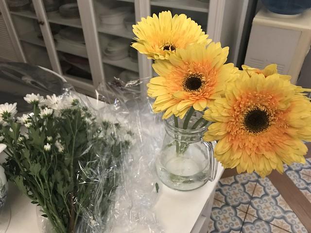 fresh flowers, yellow