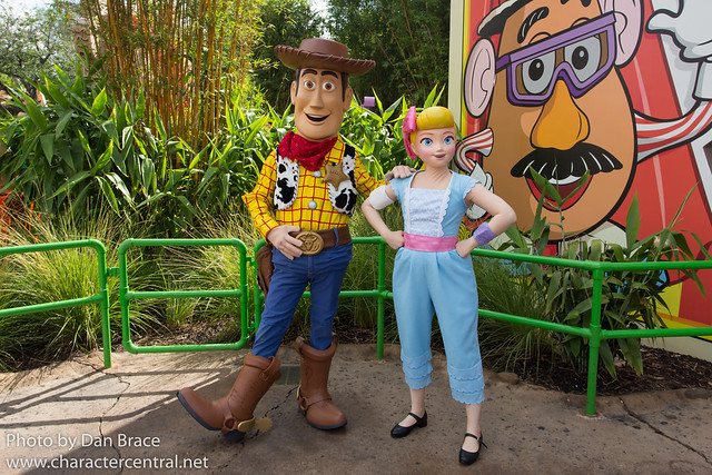 Meeting Woody and Bo Peep