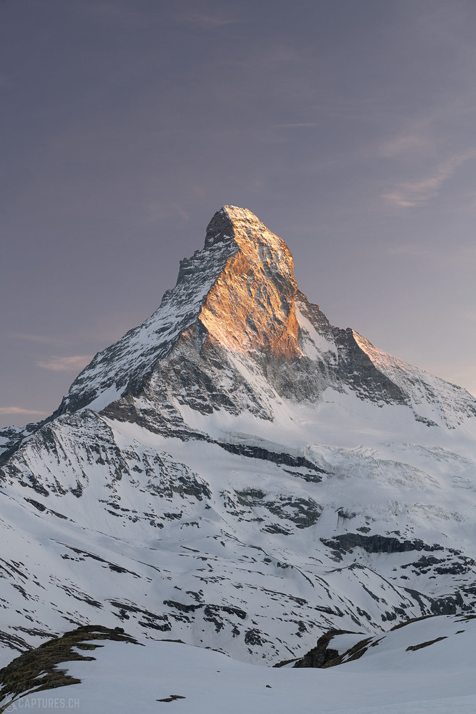 The peak in the last light - Matterhorn