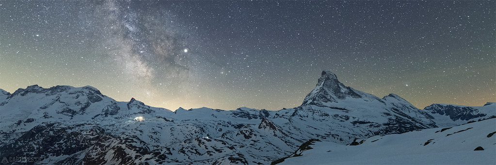 Milky way panorama - Matterhorn