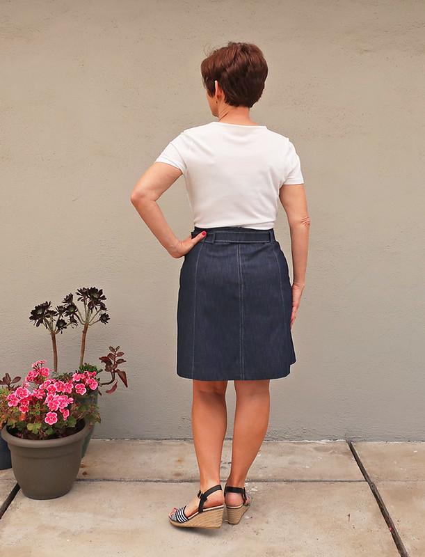 Denim skirt back view2